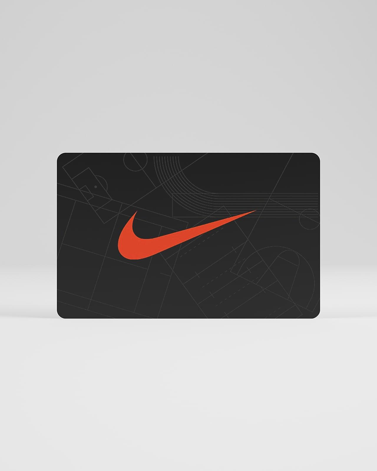 Nikes digitala presentkort skickas inom 2 timmar eller mindre