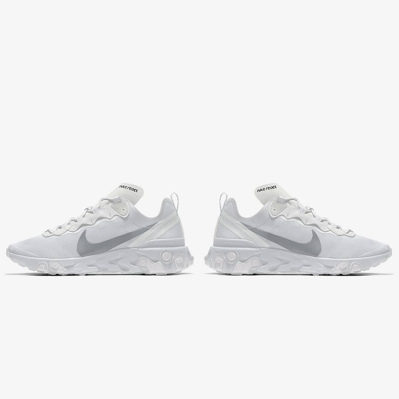 Nike React Element 55 By You Custom Women's Lifestyle Shoe. Nike ID
