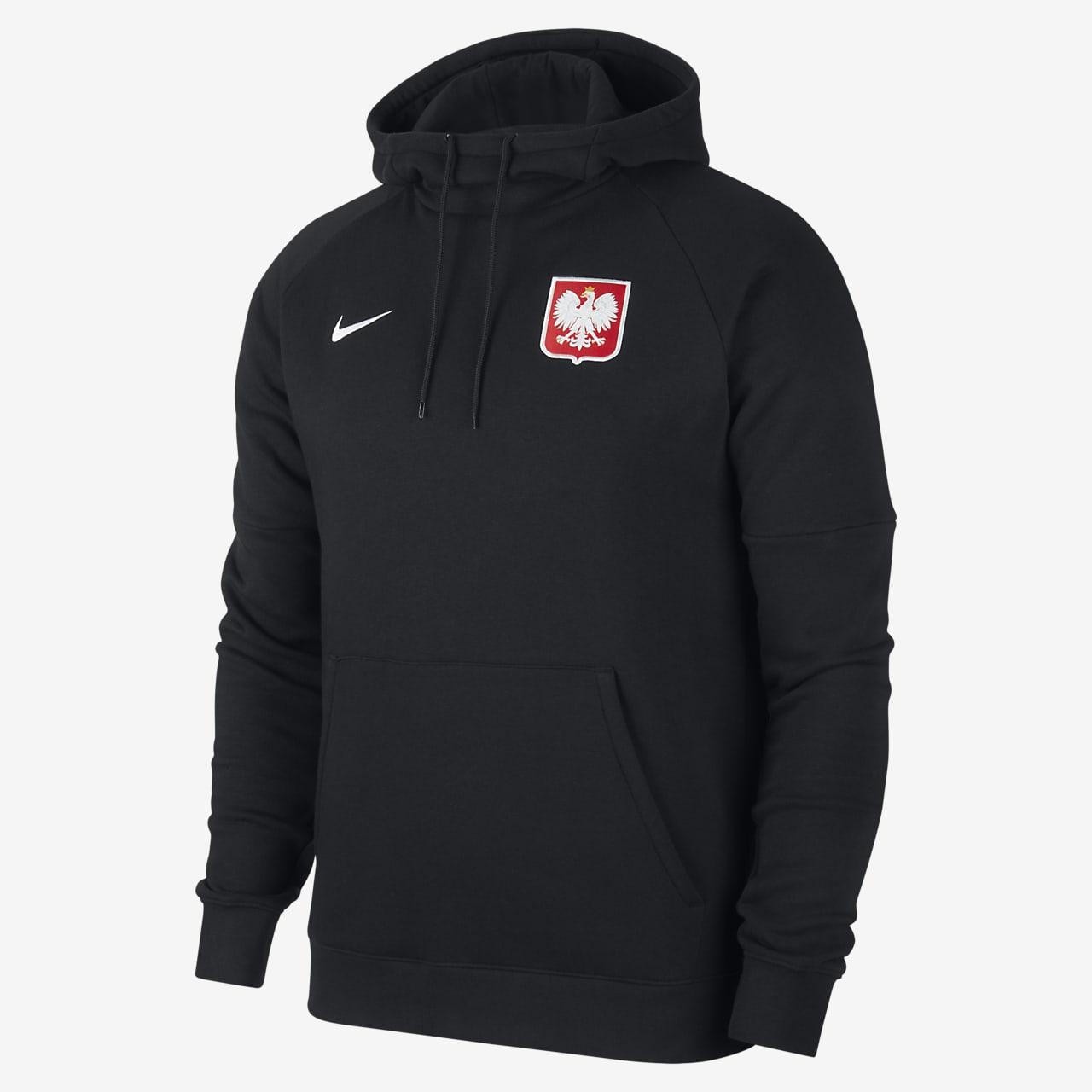 Sweat à capuche de football en tissu Fleece Pologne pour Homme