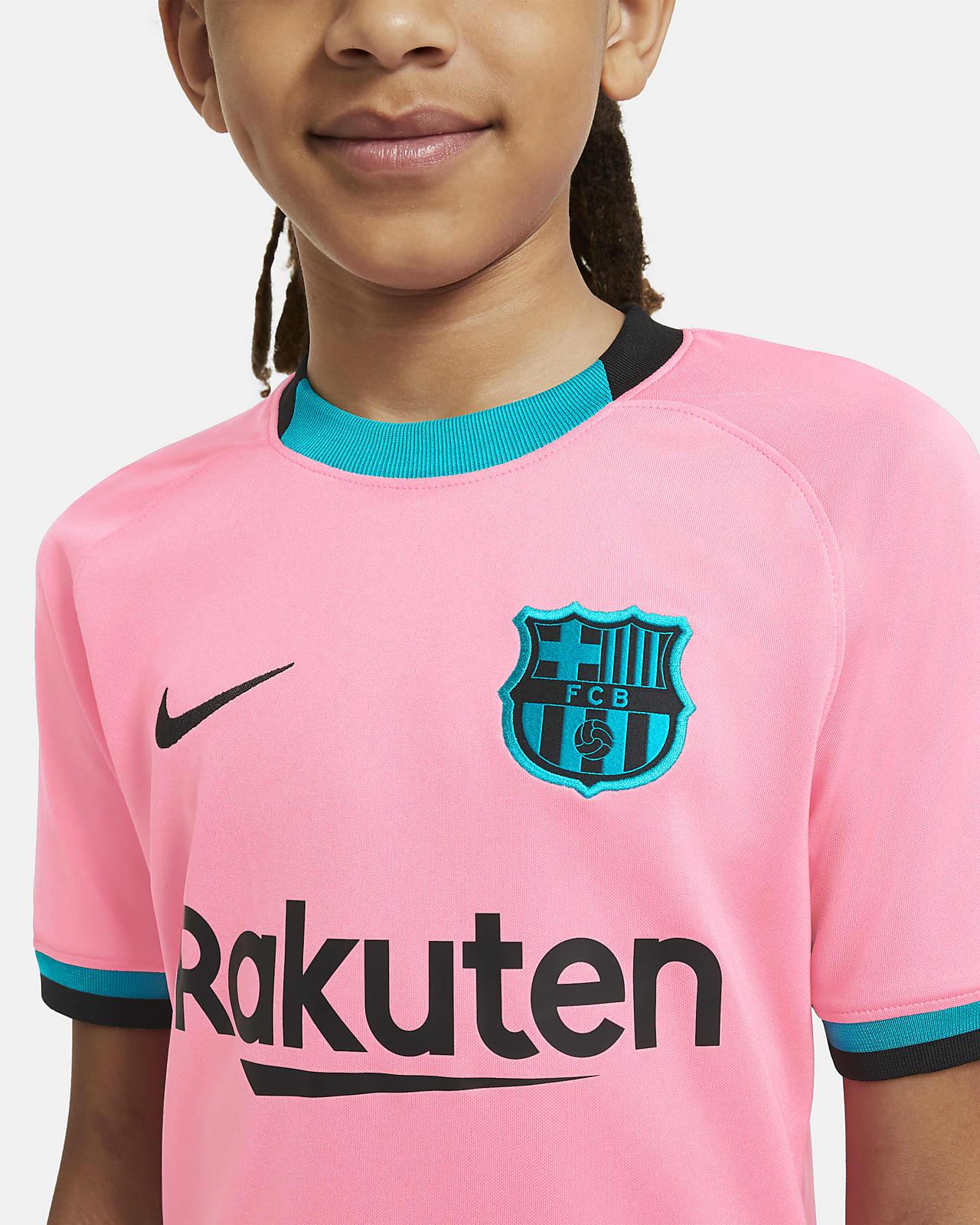 Fc Barcelona 2020 21 Stadium Third Big Kids Soccer Jersey Nike Com