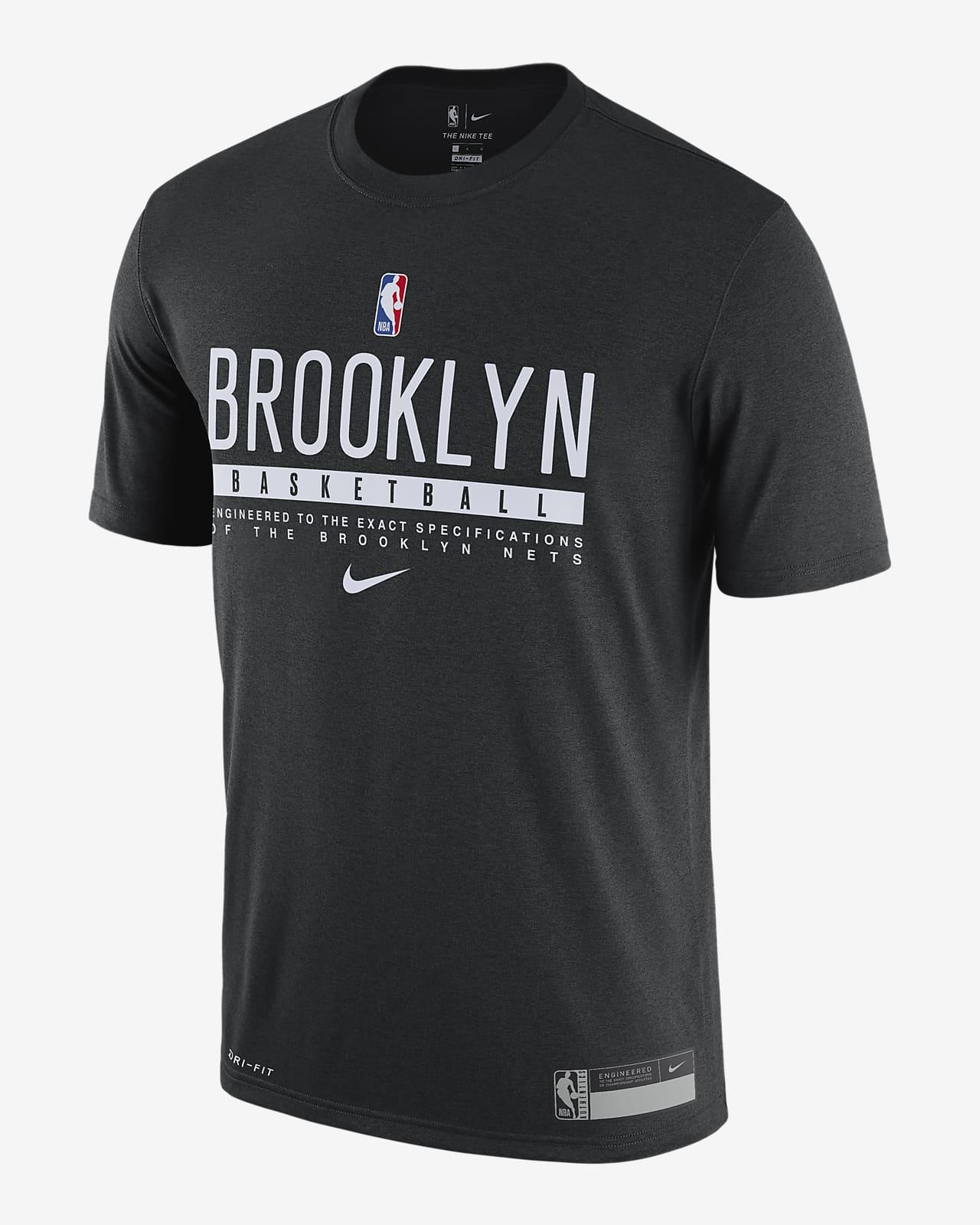 T-shirt NBA Nike Dri-FIT Nets Practice para homem
