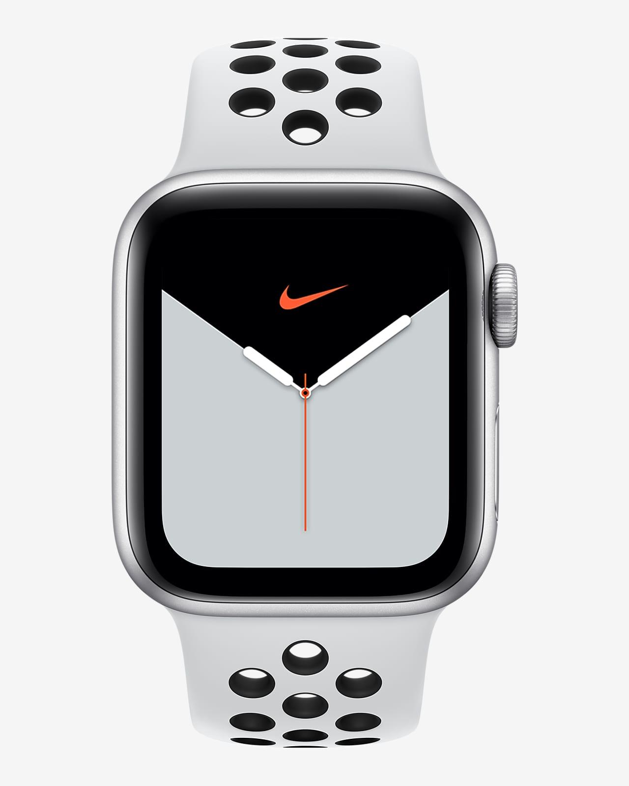 estéreo Tareas del hogar Viaje  Apple Watch Nike Series 5 (GPS + Cellular) with Nike Sport Band OpenBox  44mm Silver Aluminum Case. Nike.com