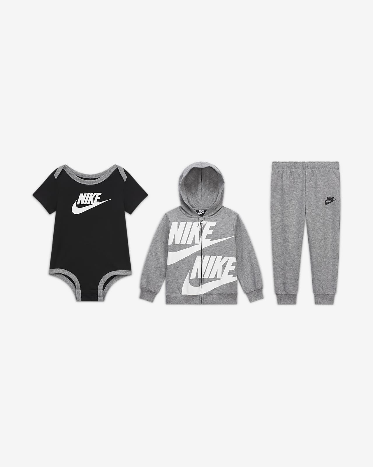 Nike Baby (12–24M) Hoodie, Bodysuit and Trousers Set