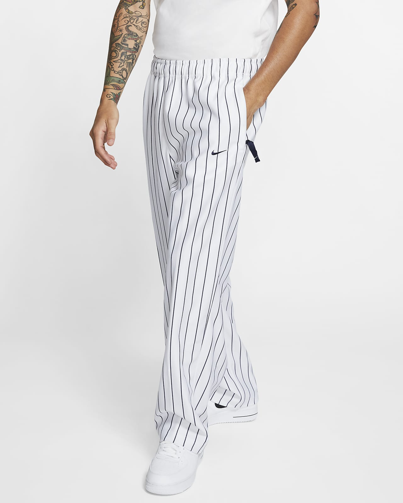 Nike Men's Swoosh Striped Trousers