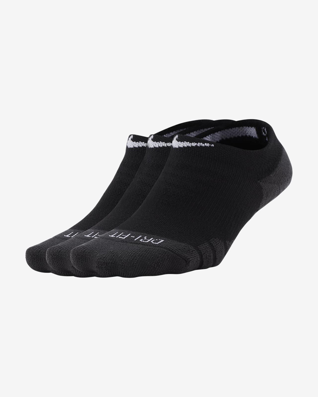 Calcetines de entrenamiento invisibles para mujer Nike Everyday Max Cushioned (3 pares)