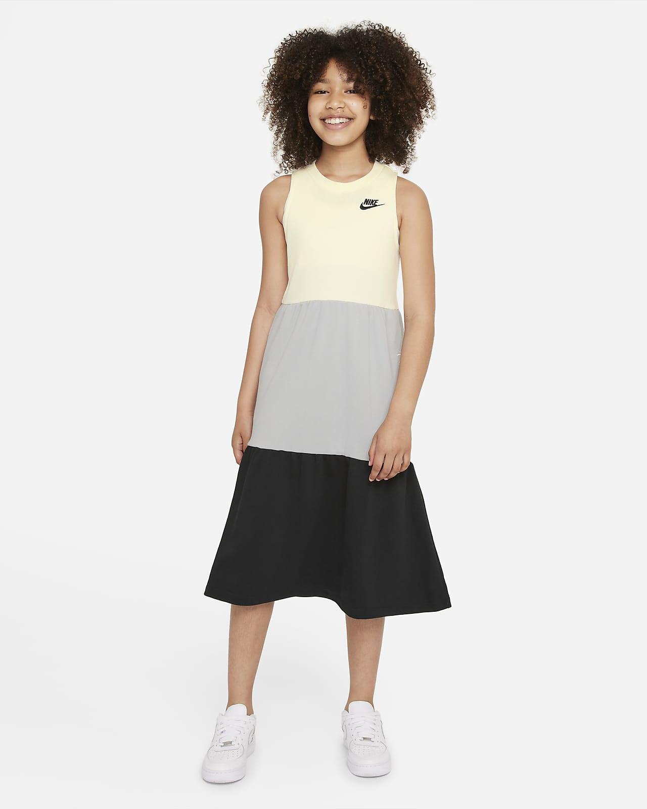 Nike Sportswear Kleid aus French-Terry-Material für ältere Kinder (Mädchen)