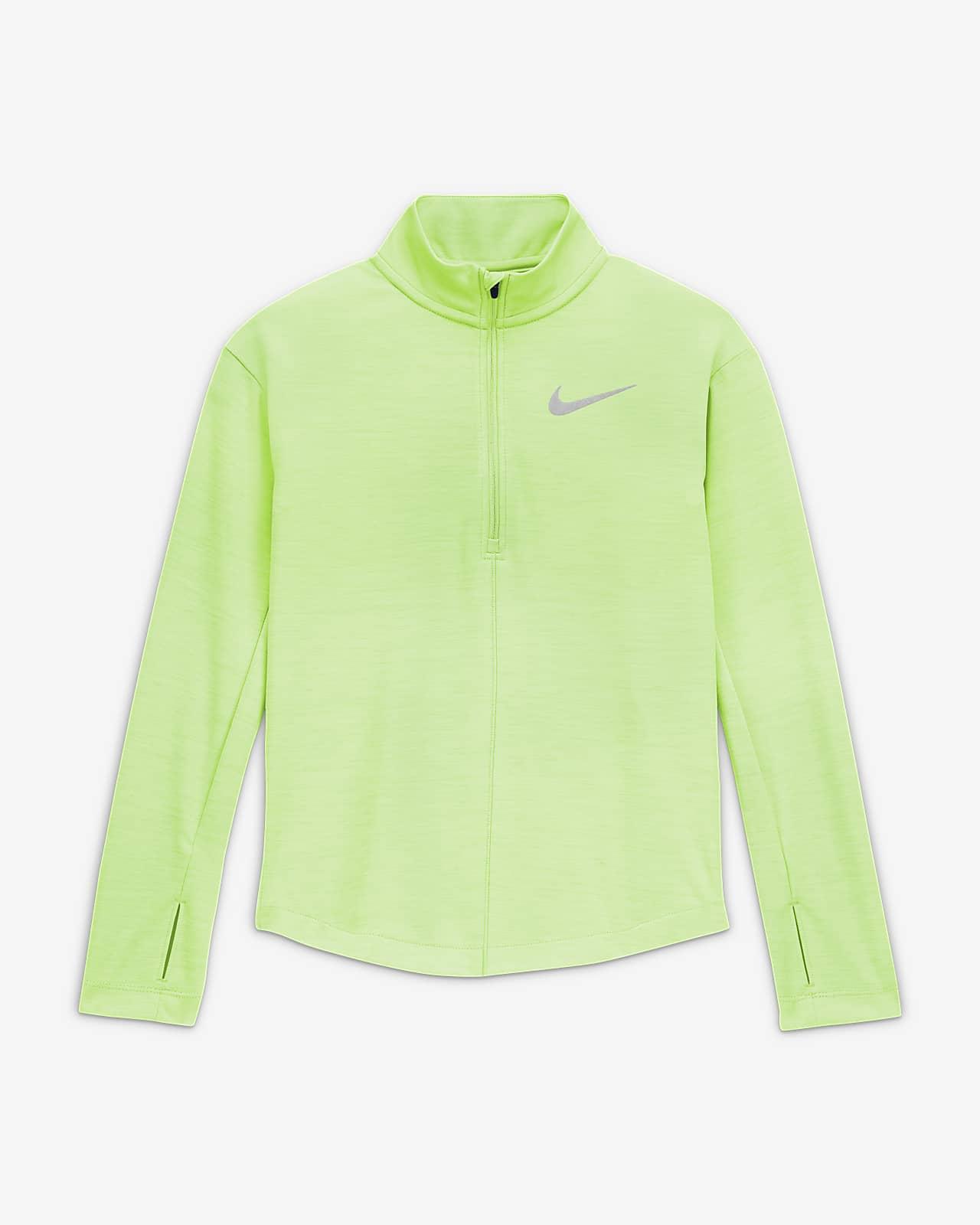 Nike Big Kids' (Girls') 1/2-Zip Long-Sleeve Running Top