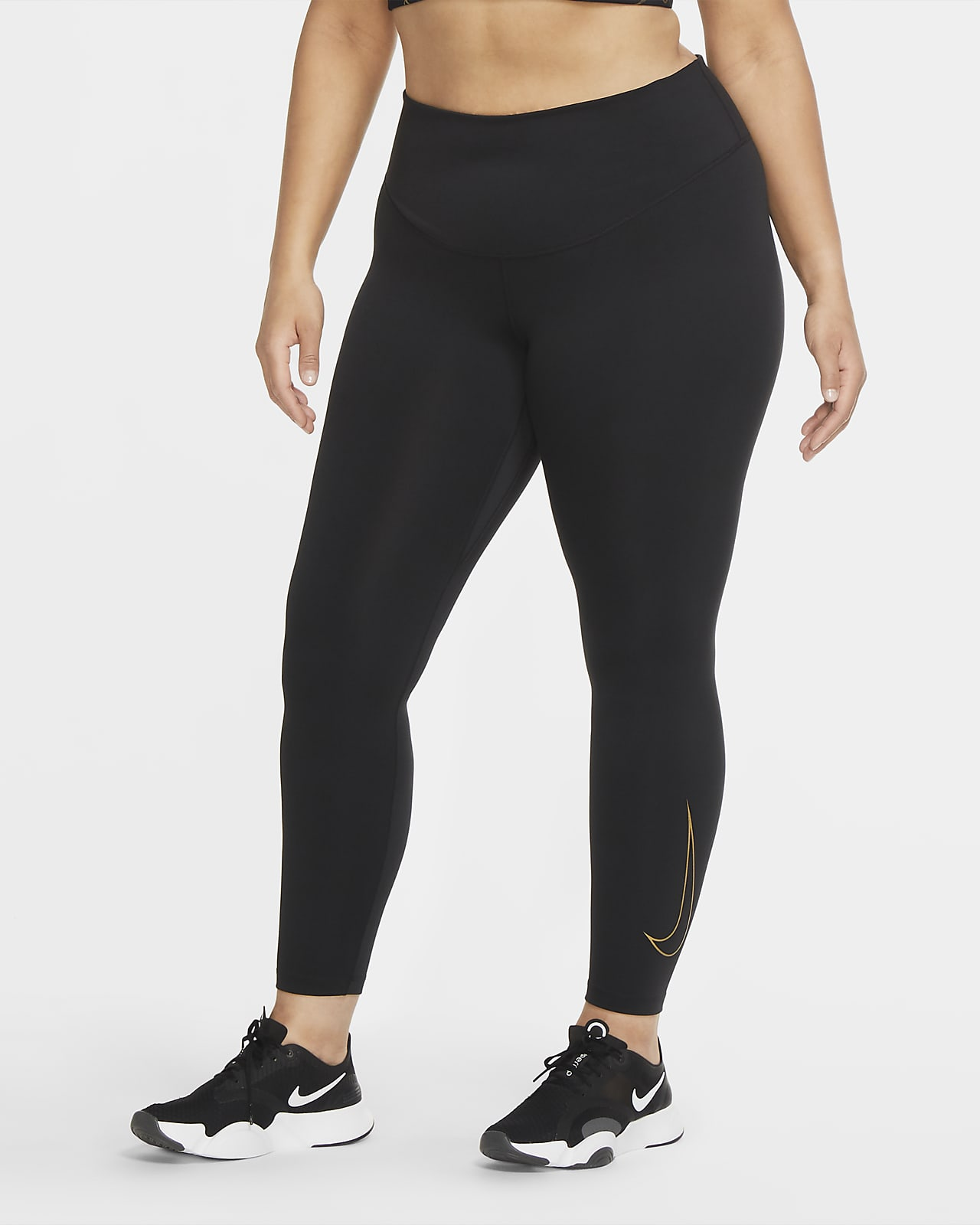 Nike One Icon Clash tights til dame (Plus size)