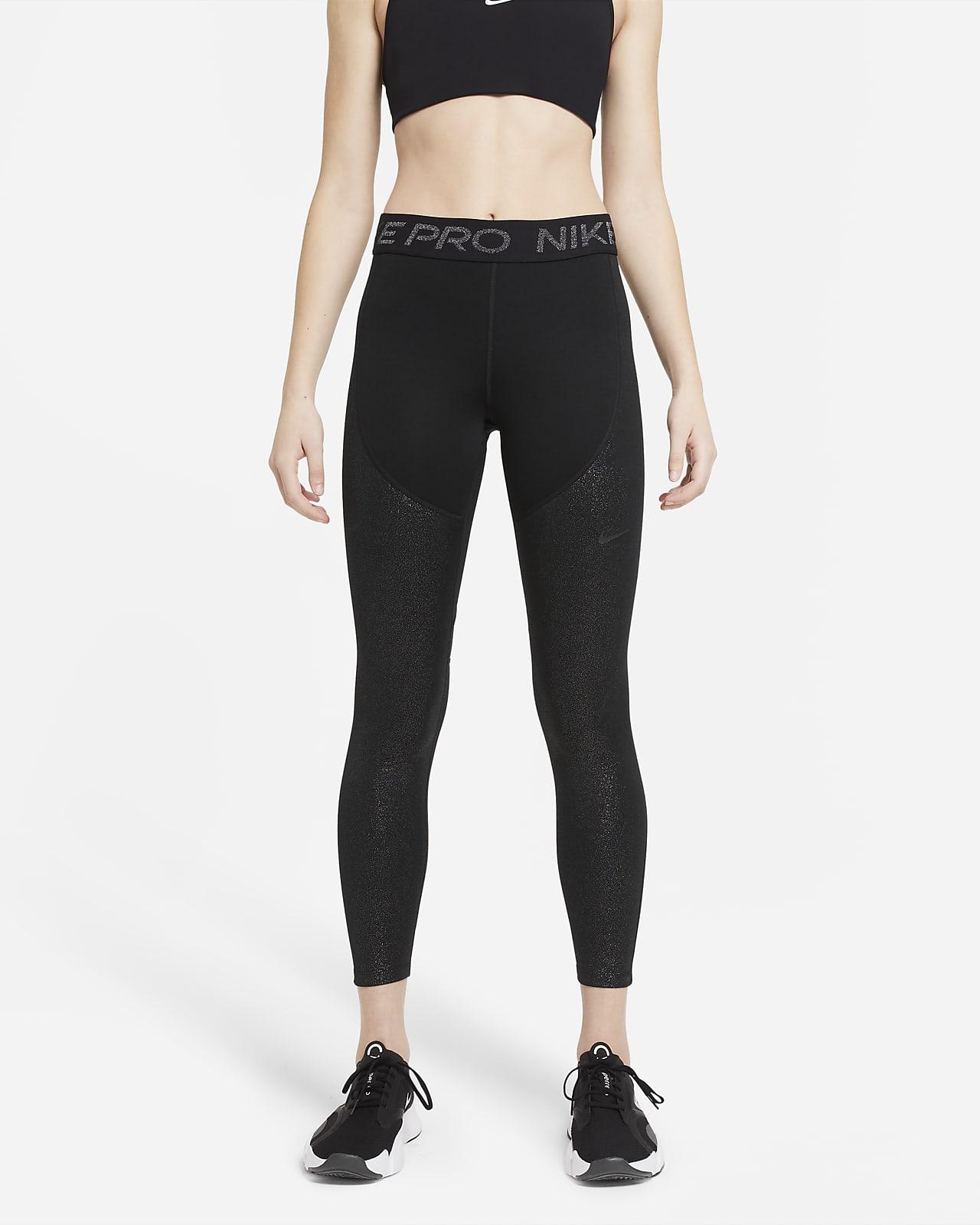 Mallas para mujer Nike Pro Warm Sparkle