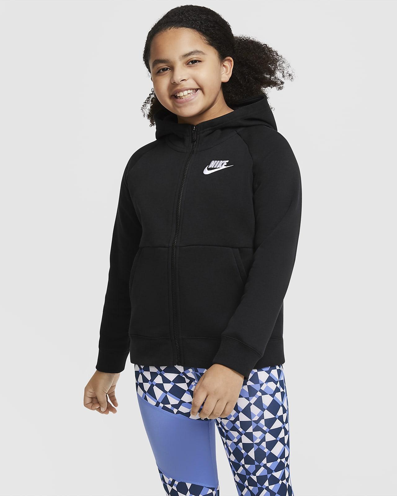 Nike Sportswear Big Kids' (Girls') Full-Zip Hoodie (Extended Size)