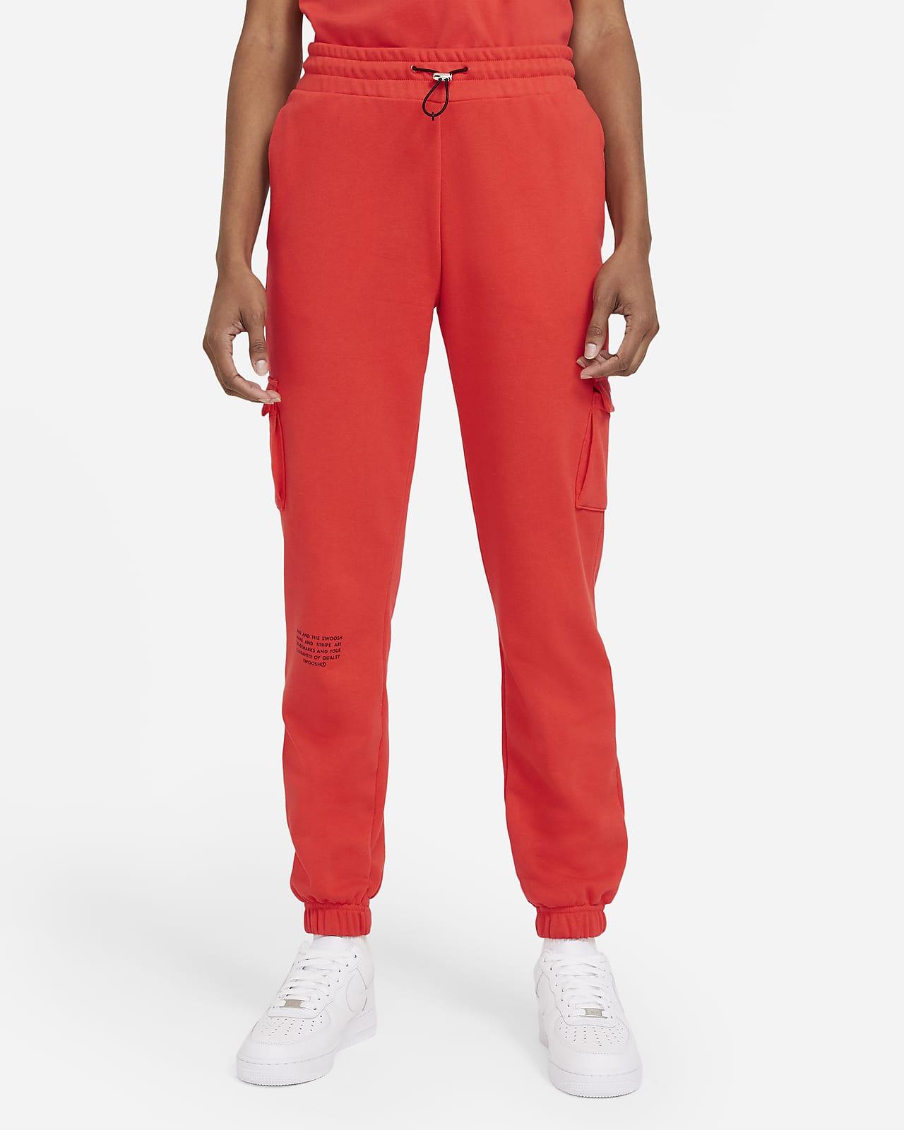 Calças em tecido moletão Nike Sportswear Swoosh para mulher