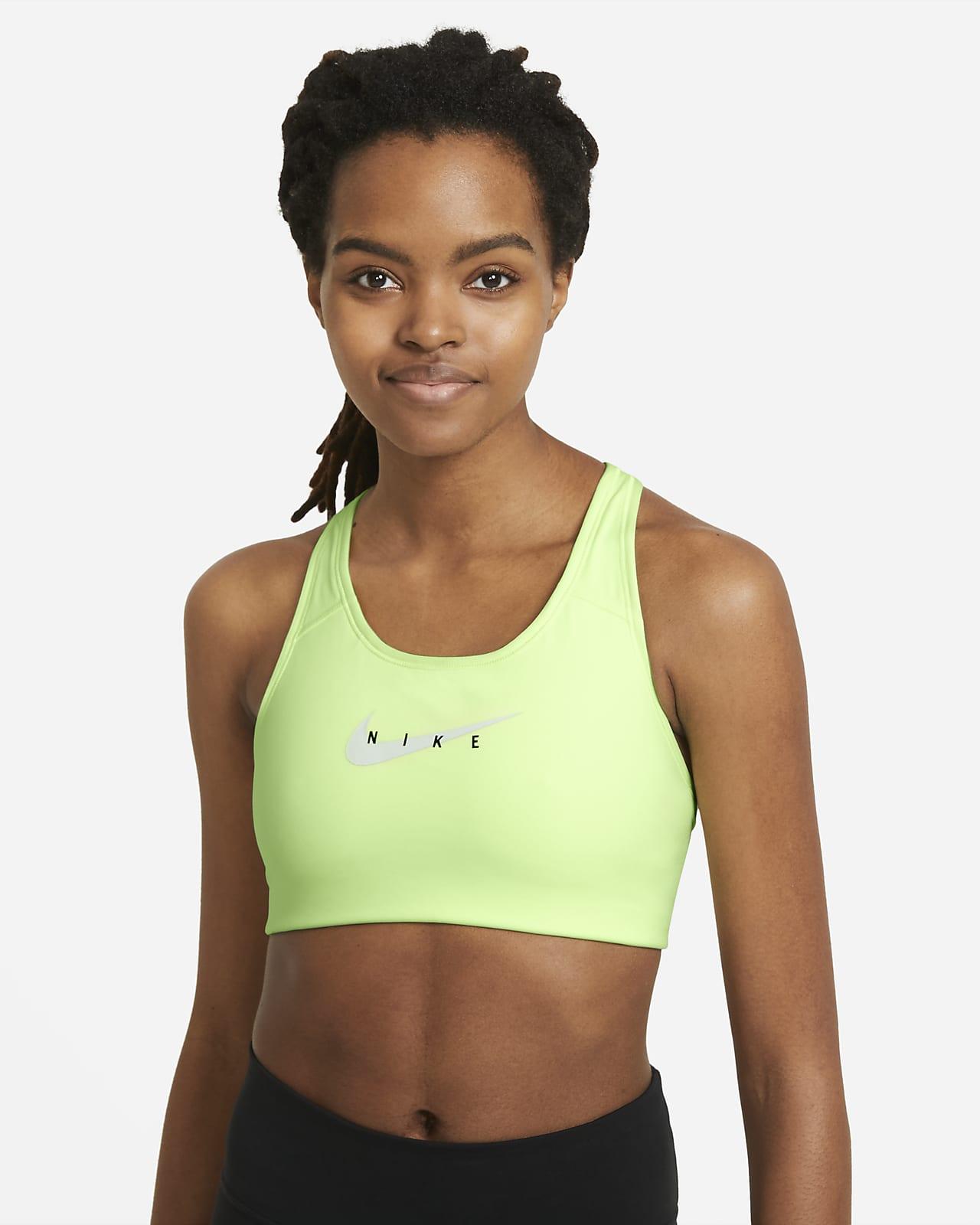 Brassière de sport à maintien normal et à motifs avec coussinet une pièce Nike Sportswear Dri-FIT Swoosh pour Femme