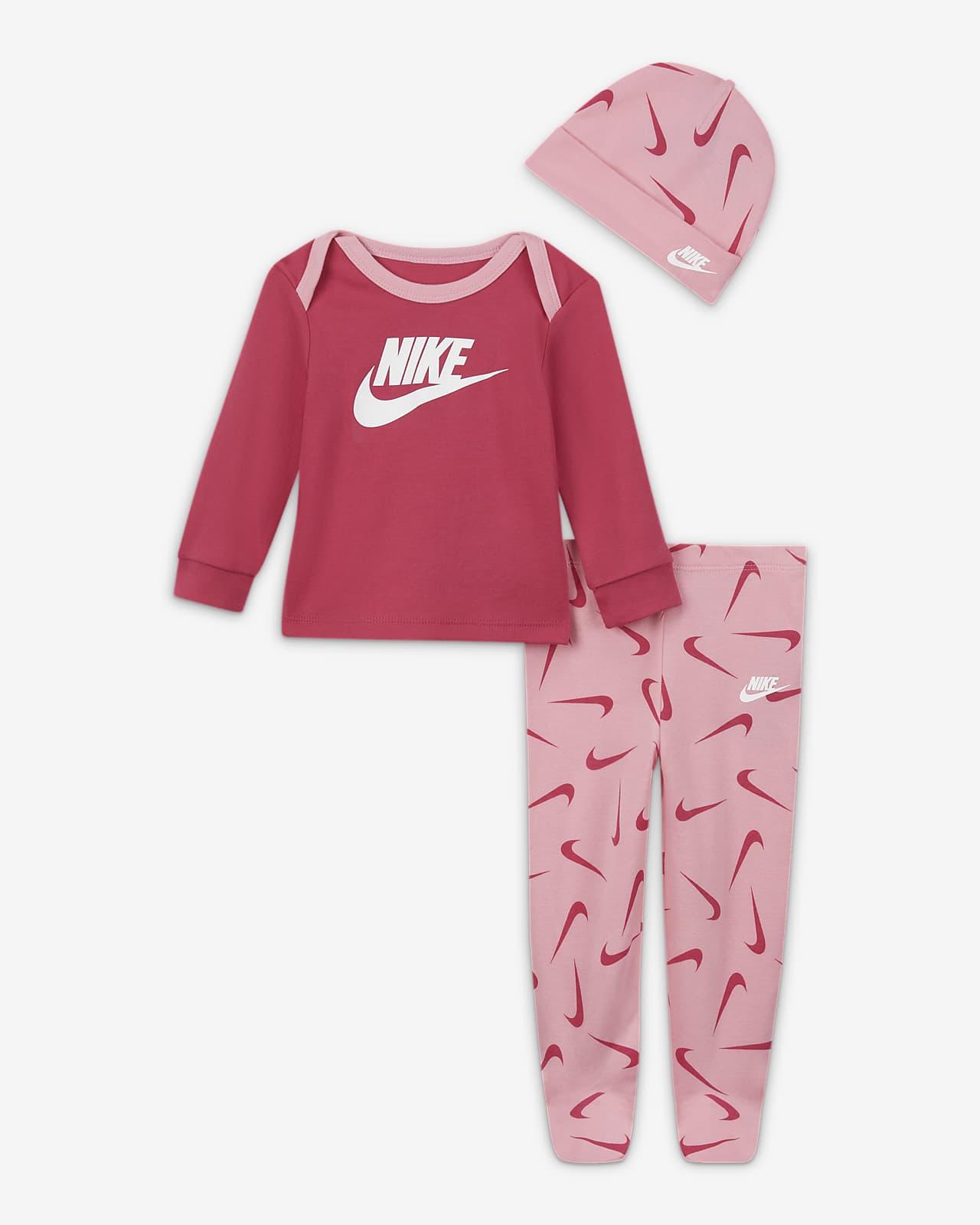 Conjunto De 3 Piezas Para Bebé Nike 0 9 M Nike Com