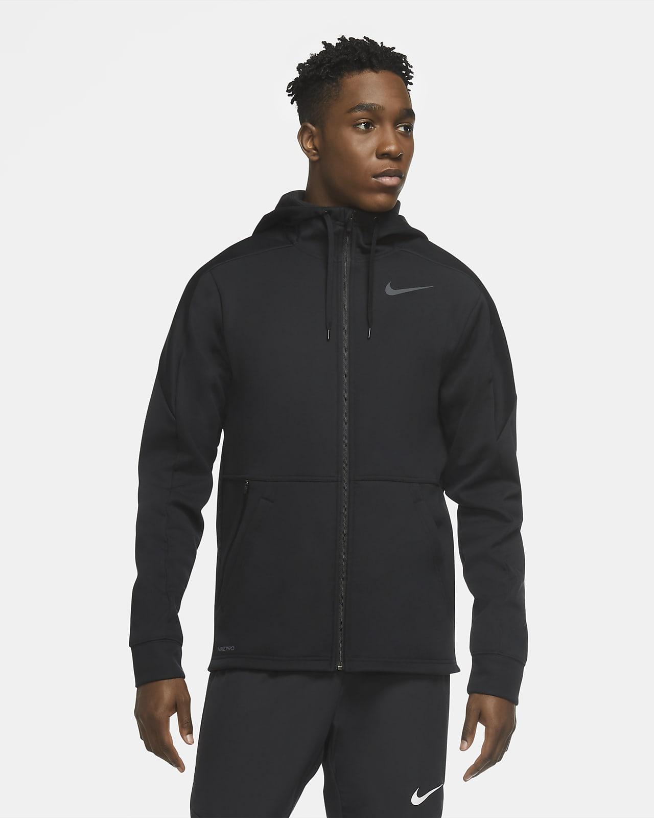 Nike Therma-træningshættetrøje med lynlås til mænd
