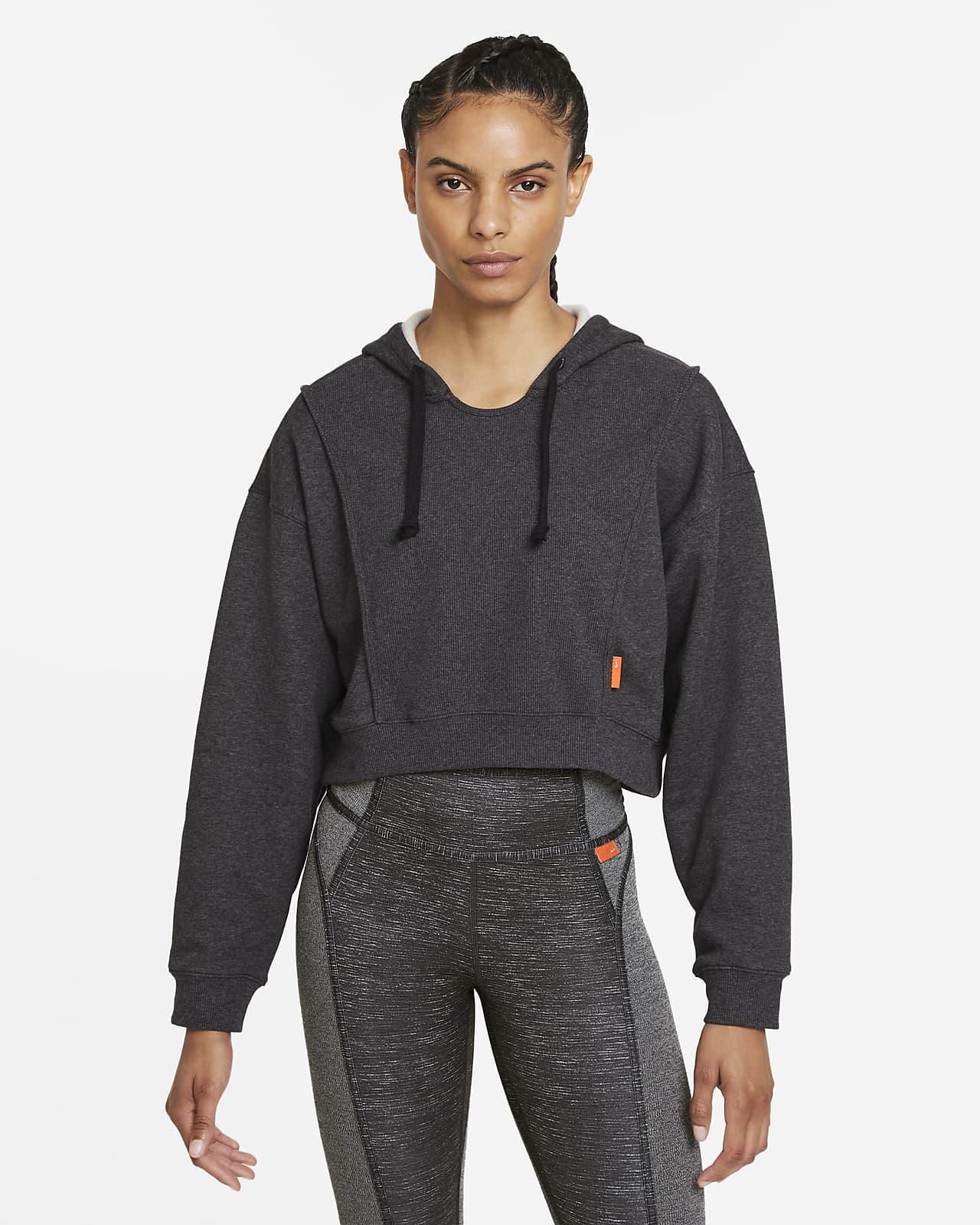 Женская укороченная флисовая худи для тренинга Nike Dri-FIT