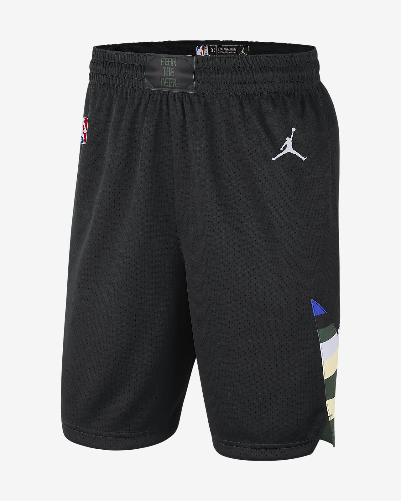 Calções NBA da Jordan Swingman Bucks Statement Edition 2020 para homem