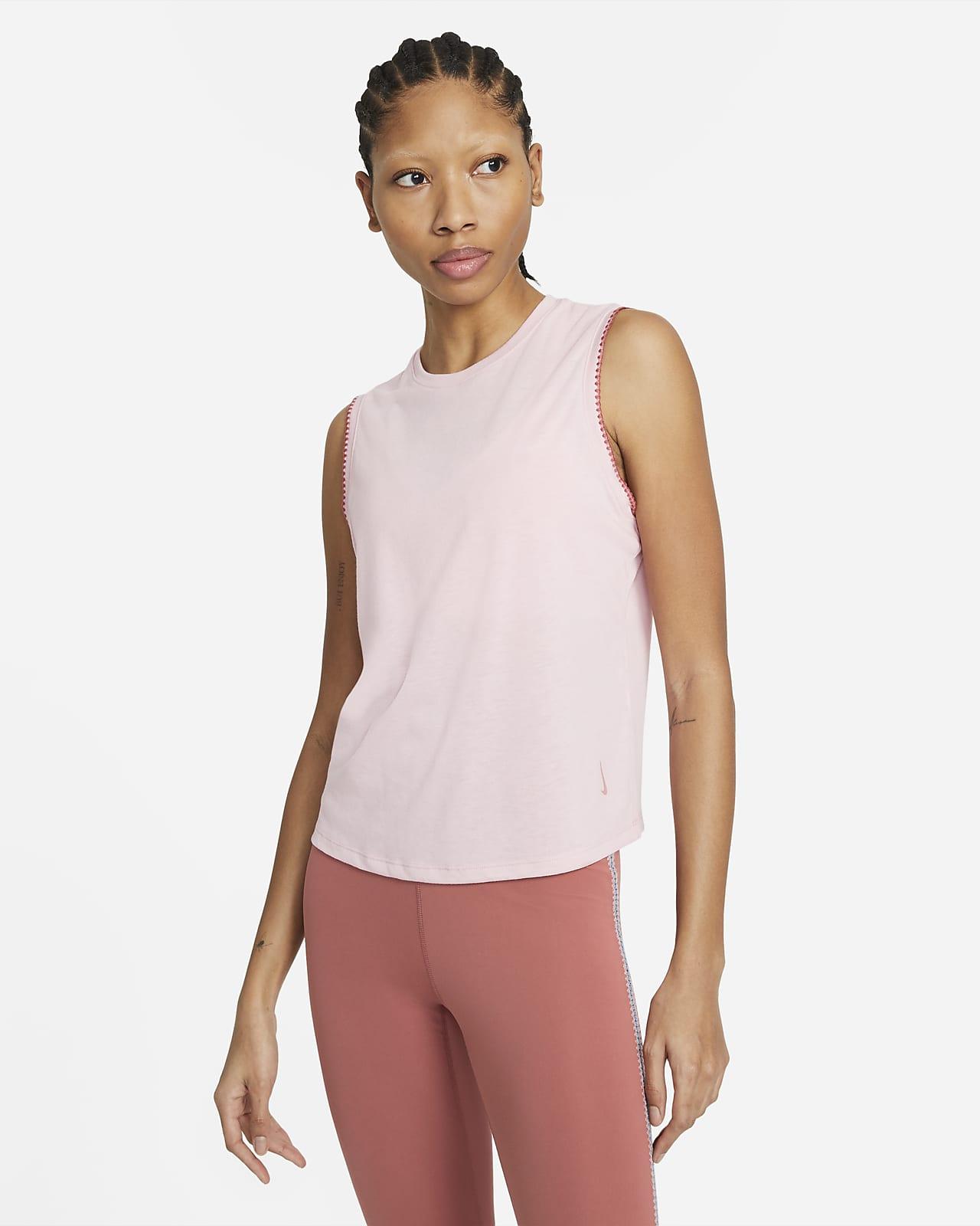 Camiseta de tirantes con orilla de encaje para mujer de Nike Yoga