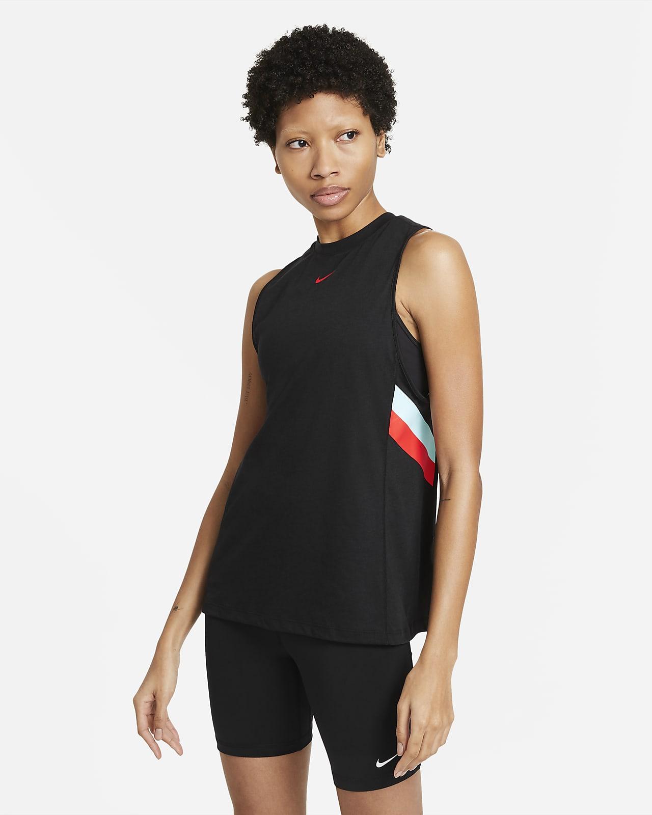 Débardeur de training Nike Dri-FIT à rayures colorées pour Femme