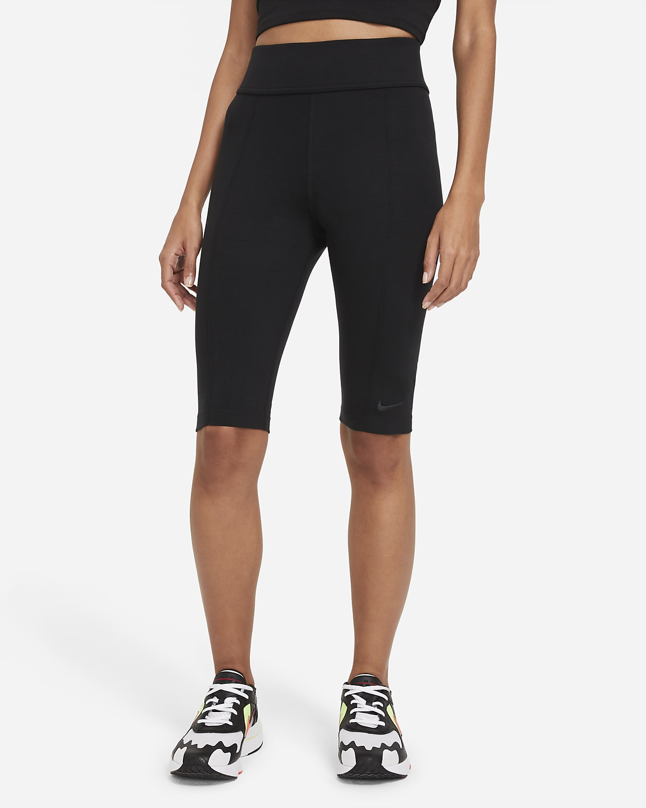 Damskie legginsy z wysokim stanem do kolan Nike Sportswear Essential