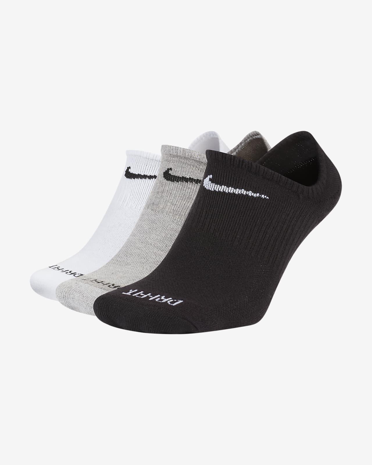 Nike Everyday Plus Cushioned Training No-Show-Socken (3 Paar)
