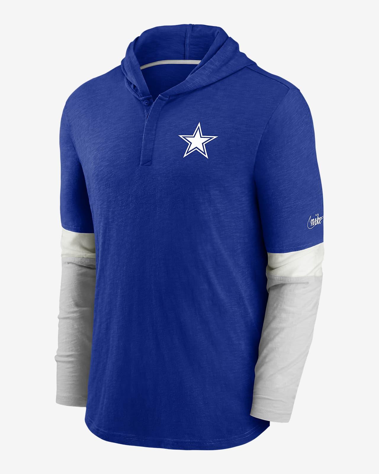 Nike Historic (NFL Cowboys) Men's Long-Sleeve Hooded Henley