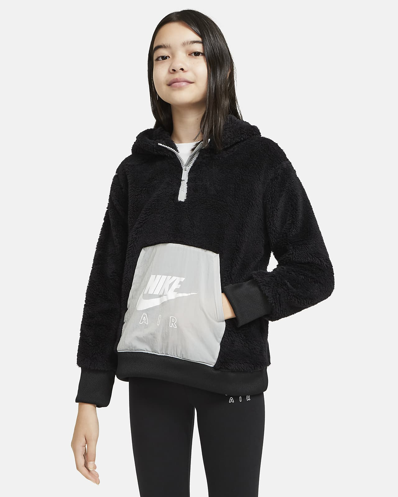 Sweat à capuche en sherpa Nike Air pour Fille plus âgée