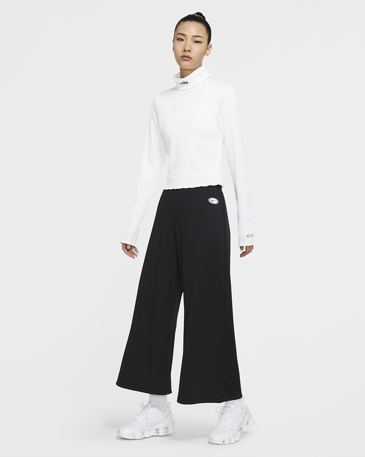 Pantalones De Tela Rib Para Mujer Nike Sportswear Nike Com