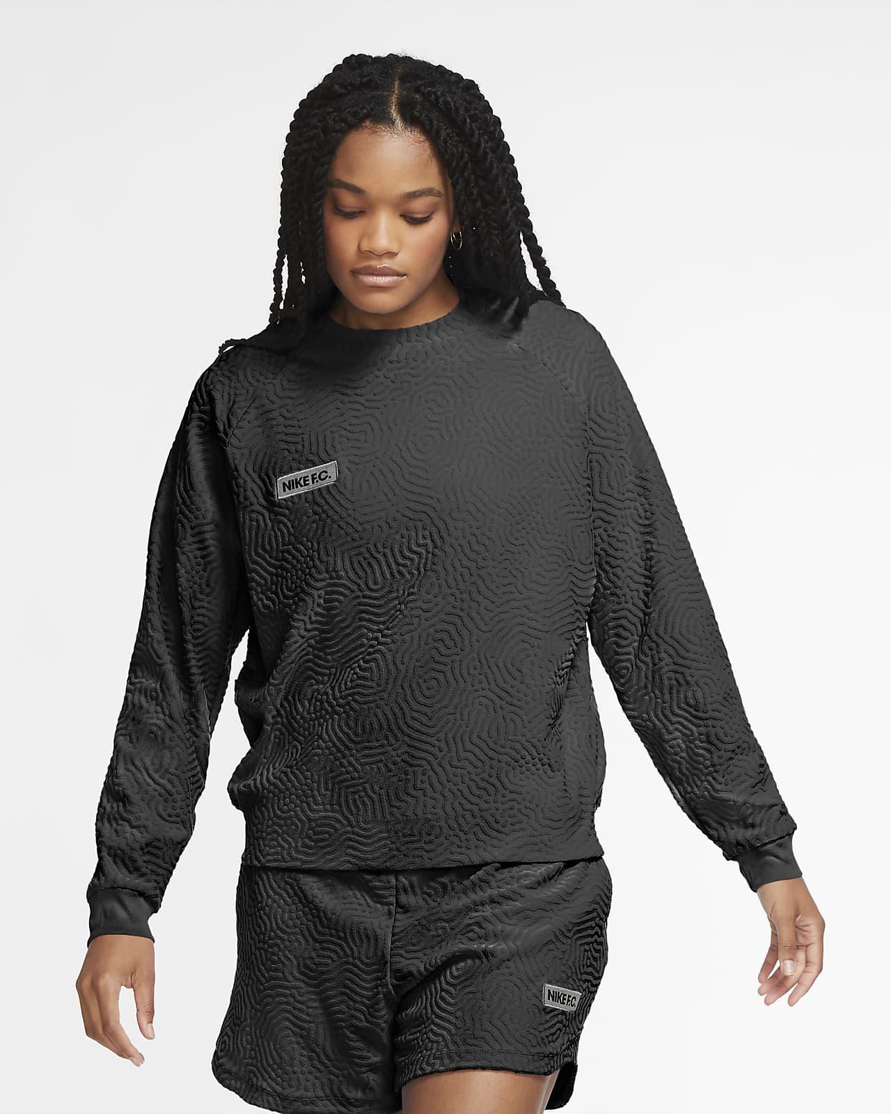 Top de fútbol de manga larga para mujer Nike F.C.