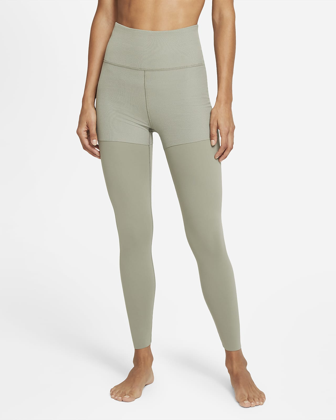 Nike Yoga Luxe Layered 7/8-Leggings für Damen