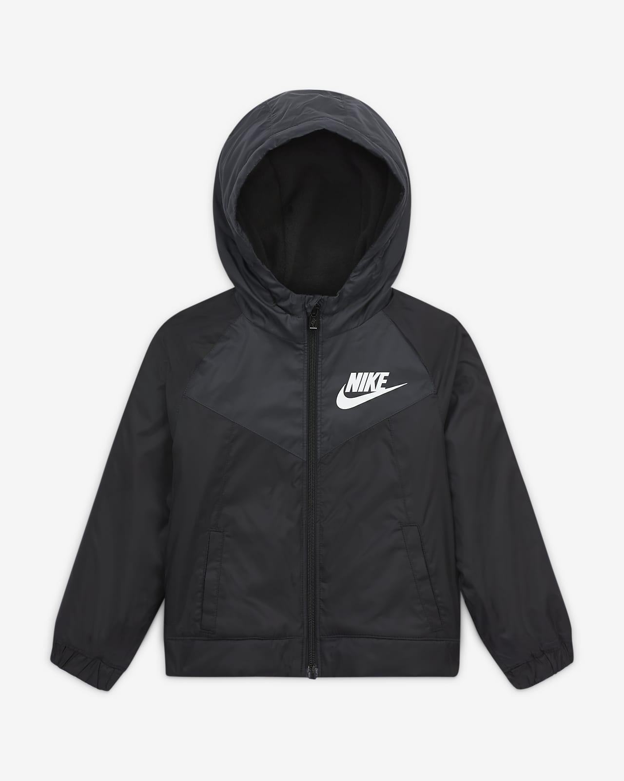 Jacka Nike Sportswear Windrunner med hel dragkedja för små barn