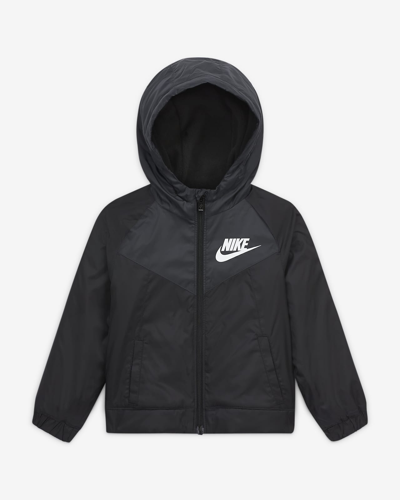 Nike Sportswear Windrunner Jacke mit durchgehendem Reißverschluss für Kleinkinder