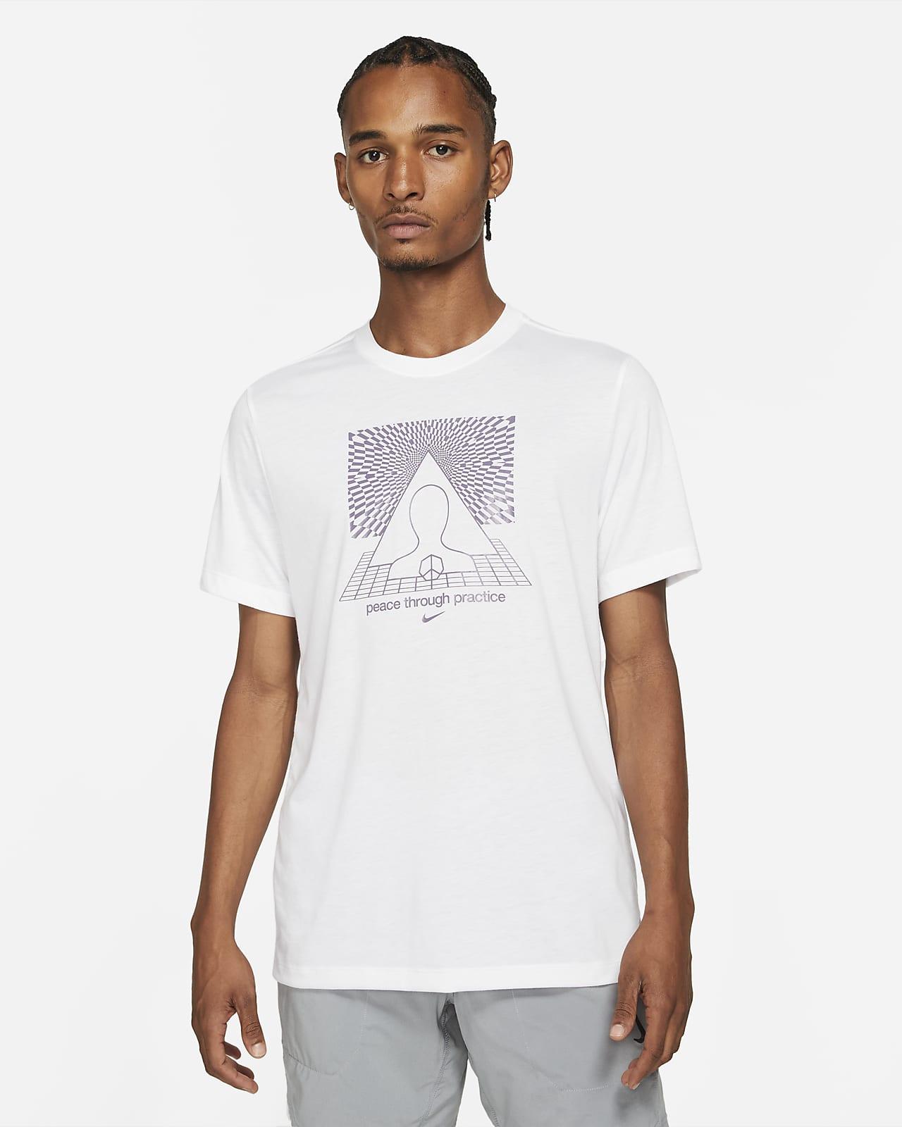Nike Yoga Dri-FIT T-shirt met grafische print voor heren