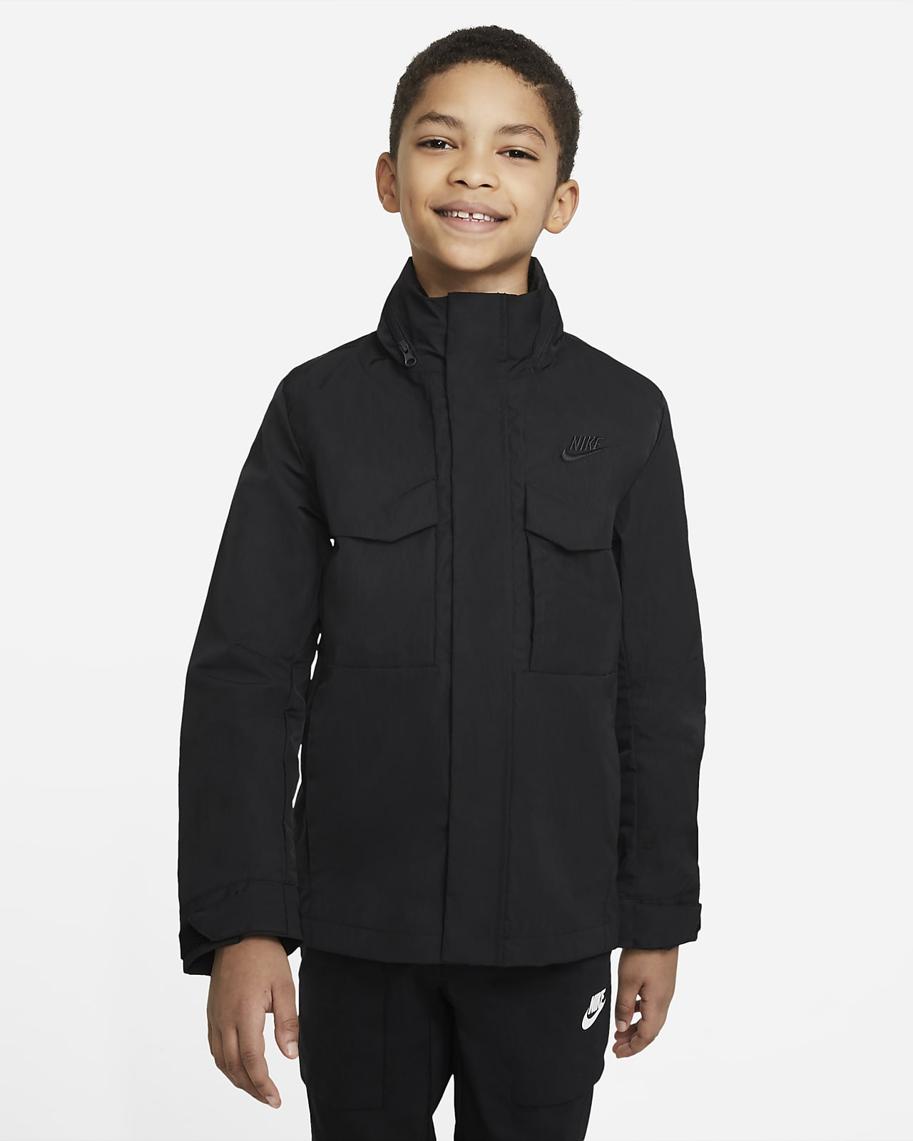 Chamarra militar M-65 para niño talla grande Nike Sportswear