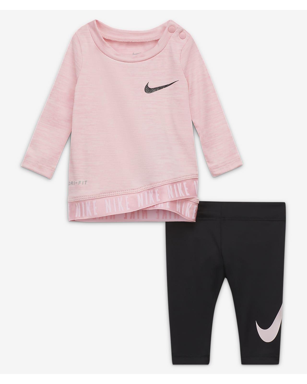 Conjunto de Top y leggings para bebé Nike Dri-FIT bebé (0-9m)