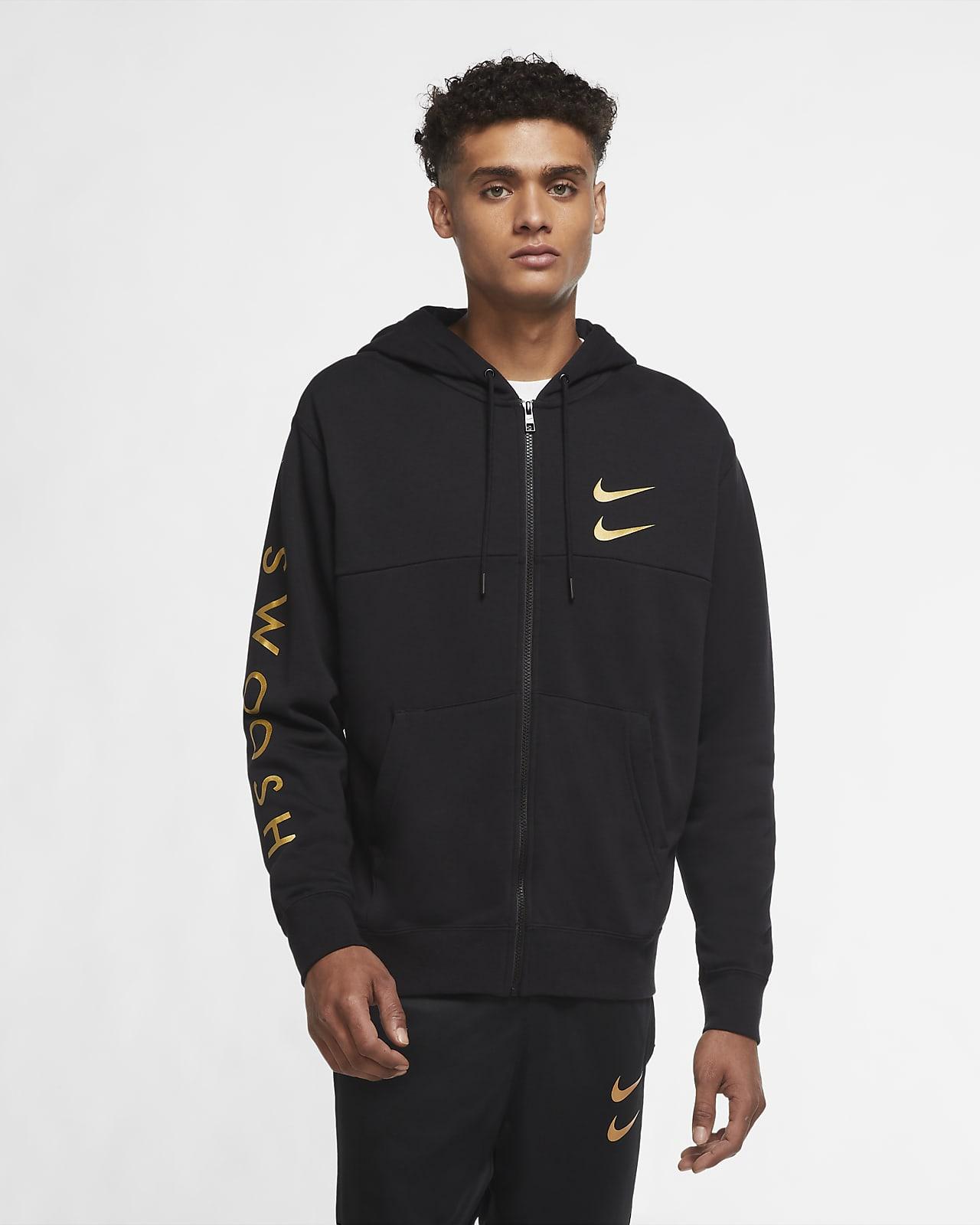 Nike Sportswear Swoosh hosszú cipzáras, kapucnis férfipulóver