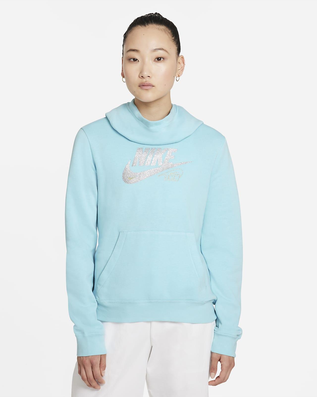 Nike Sportswear Club Fleece Women's Funnel-Neck Glitter Hoodie