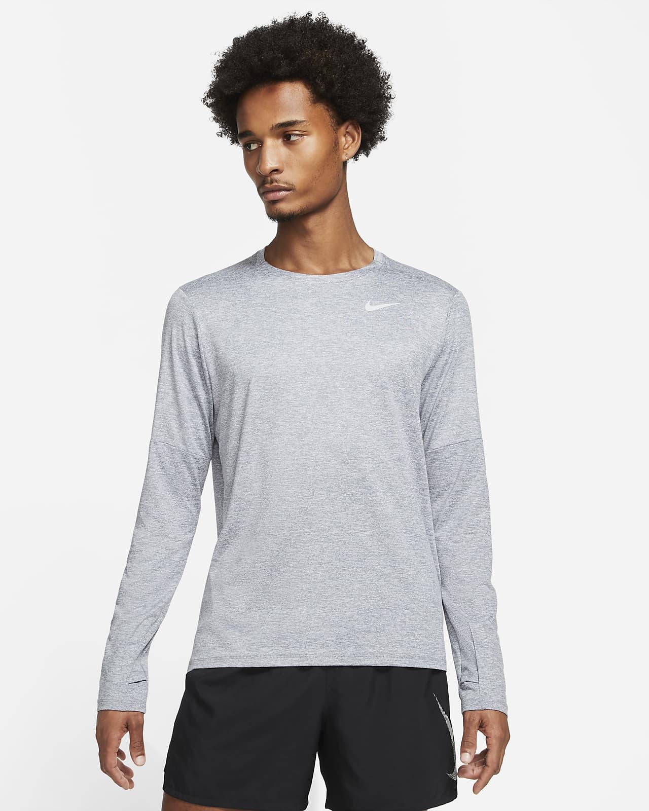 Pánská běžecká mikina skulatým výstřihem Nike Dri-FIT Element