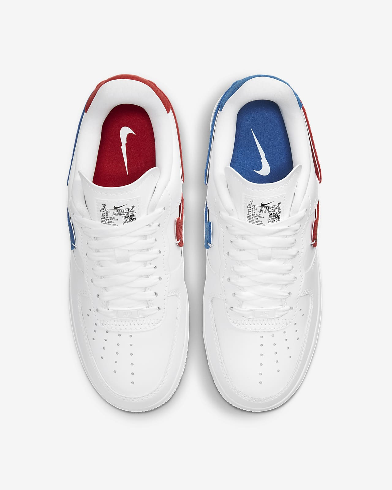 nike air force 1 low blanc bleu rouge