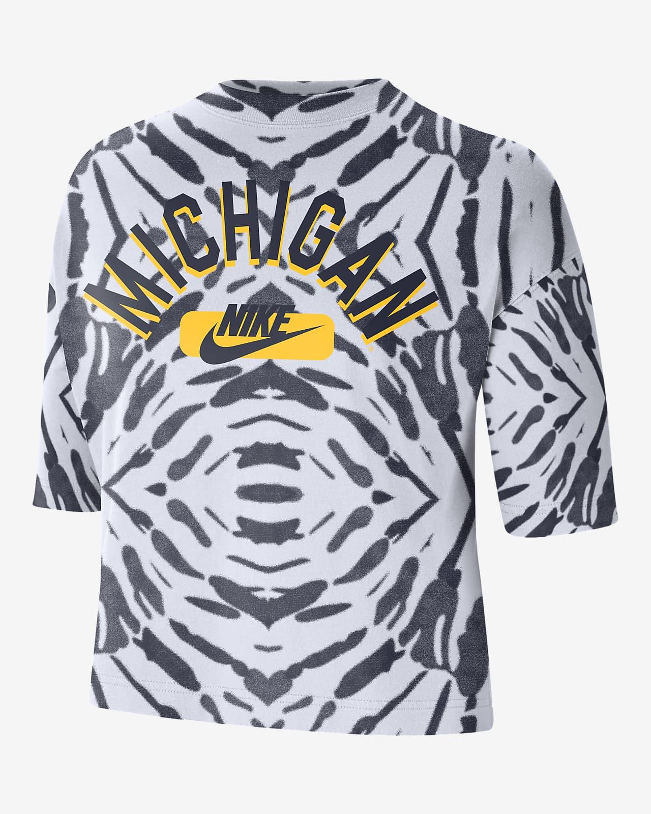Nike College (Michigan) Women's Boxy Printed T-Shirt
