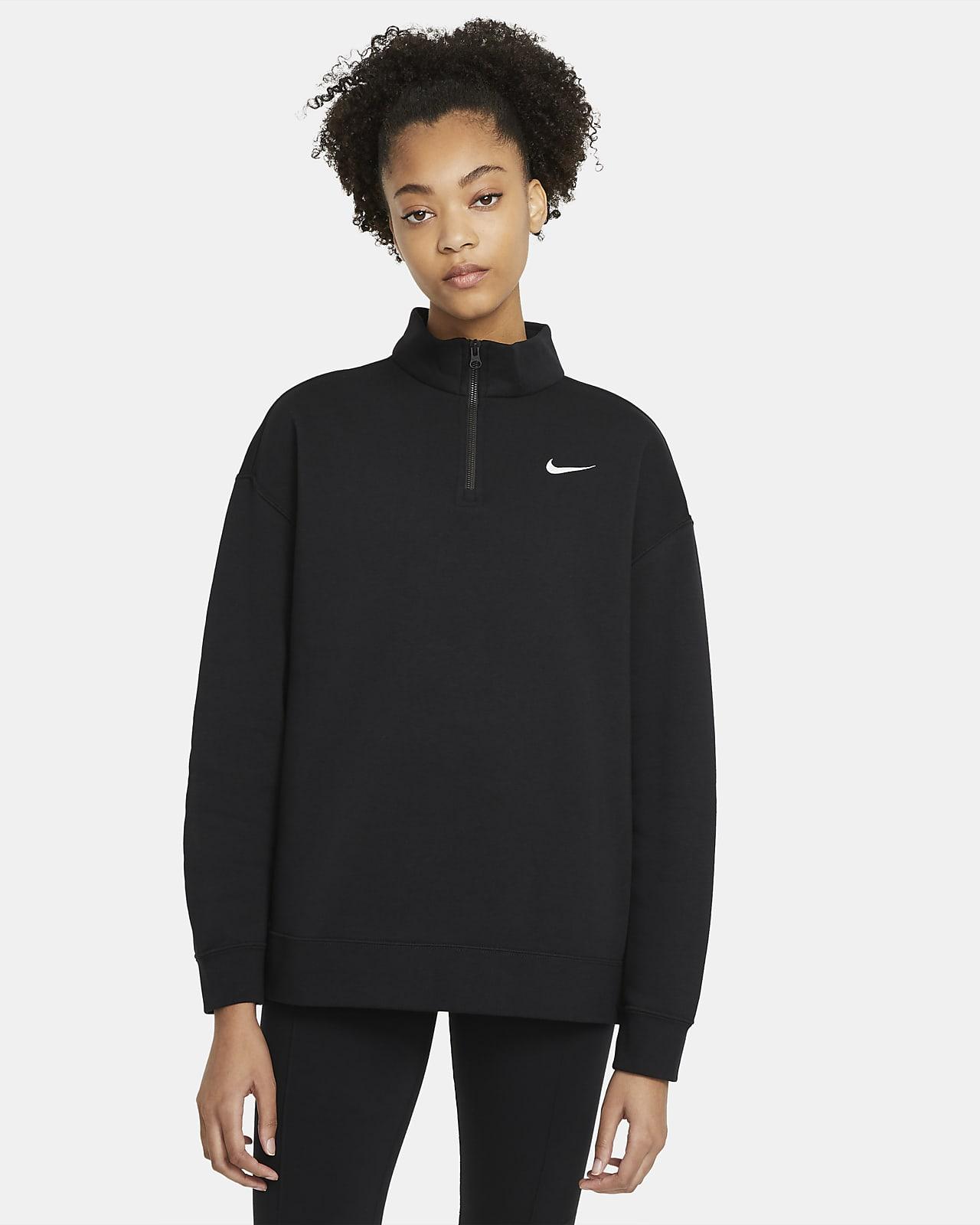 Haut en tissu Fleece à 1/4 de zip Nike Sportswear pour Femme
