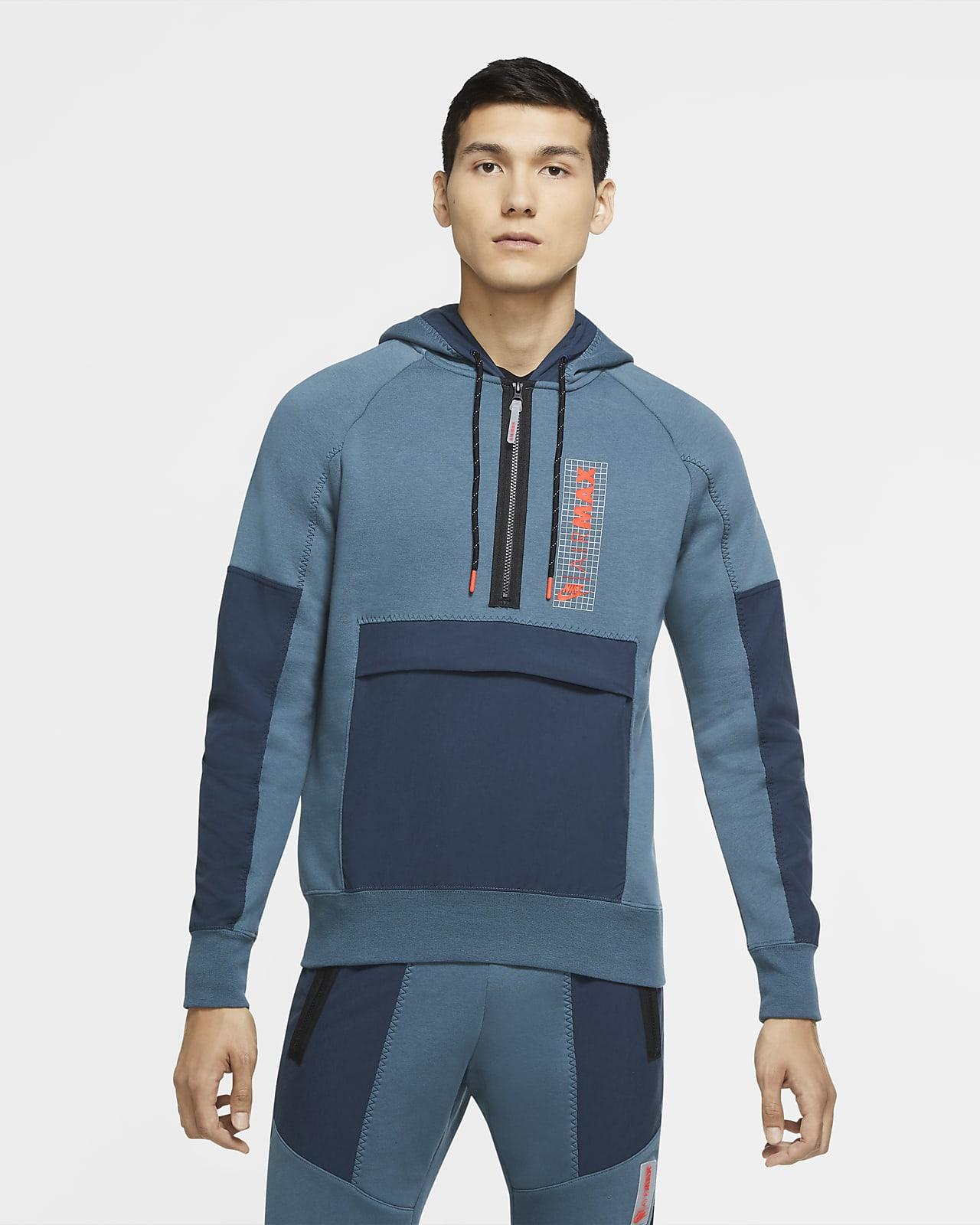 Fleecetröja Nike Air Max med halv dragkedja för män