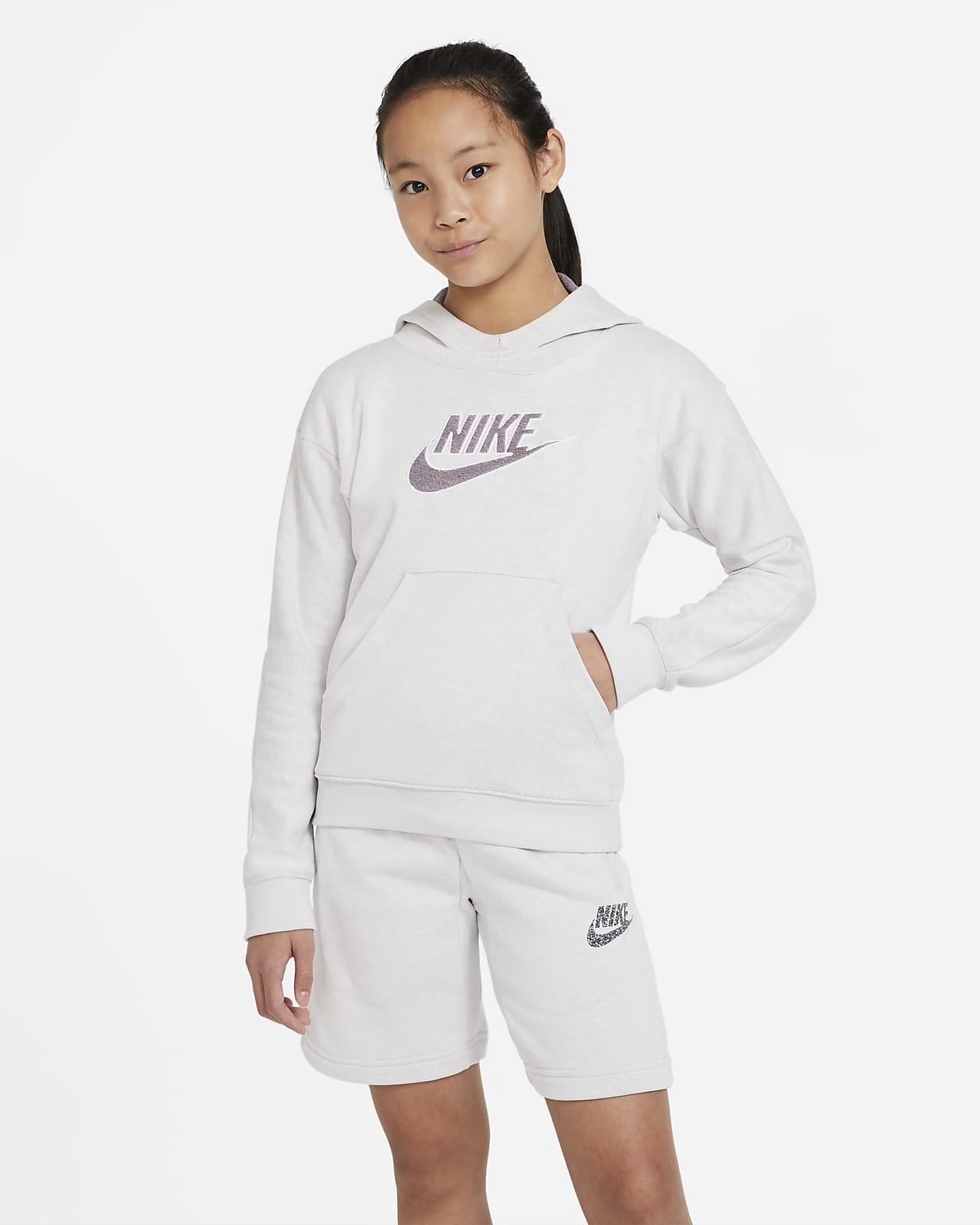 เสื้อมีฮู้ดเด็กโตแบบสวม Nike Sportswear
