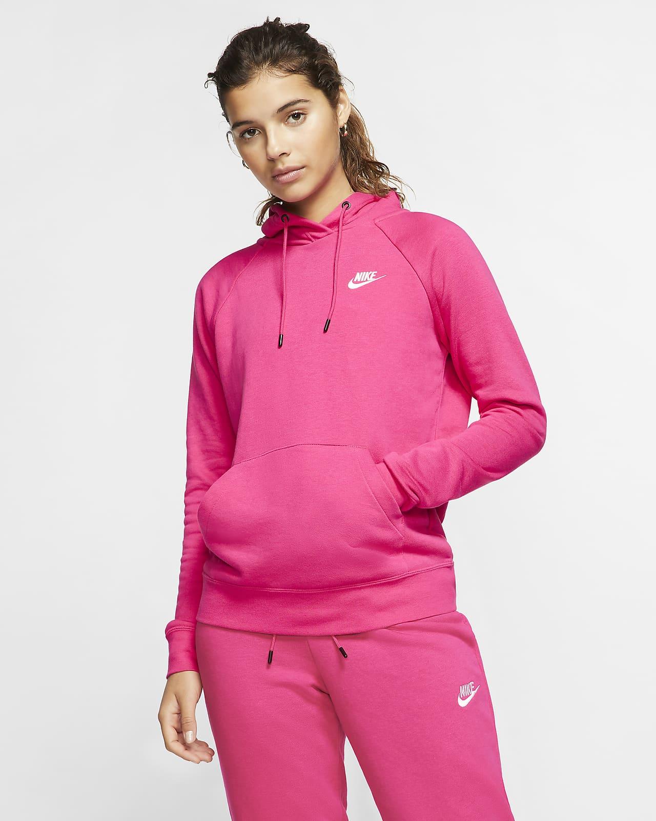 Felpa pullover in fleece con cappuccio Nike Sportswear Essential - Donna