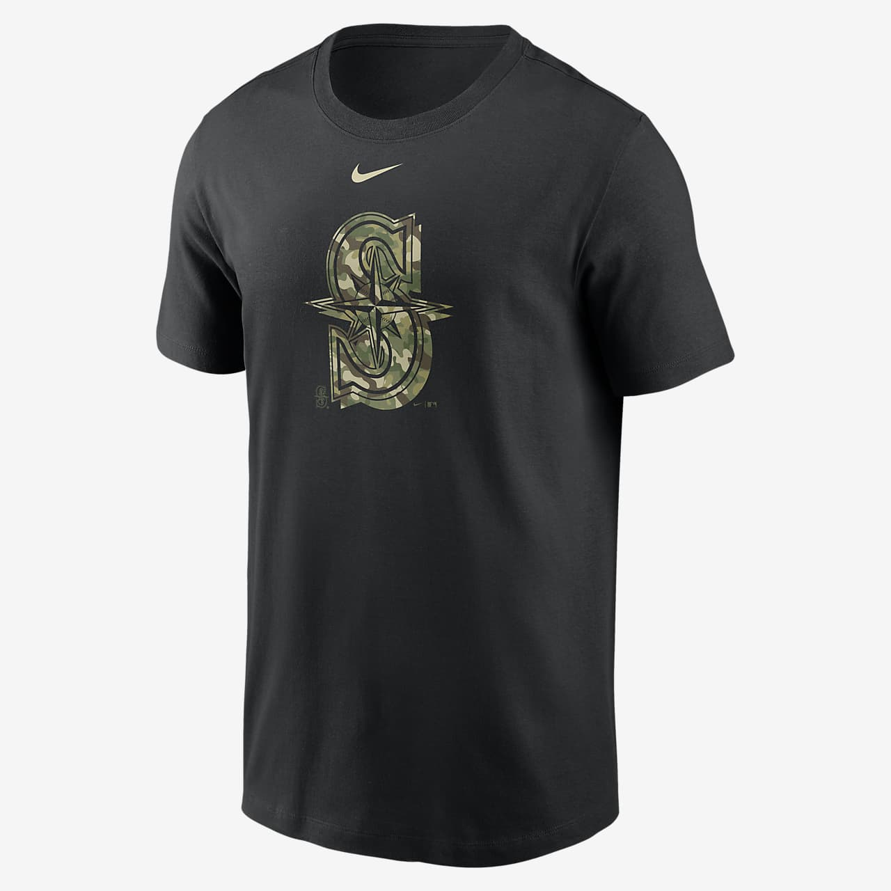 Nike Camo Logo (MLB Seattle Mariners) Men's T-Shirt