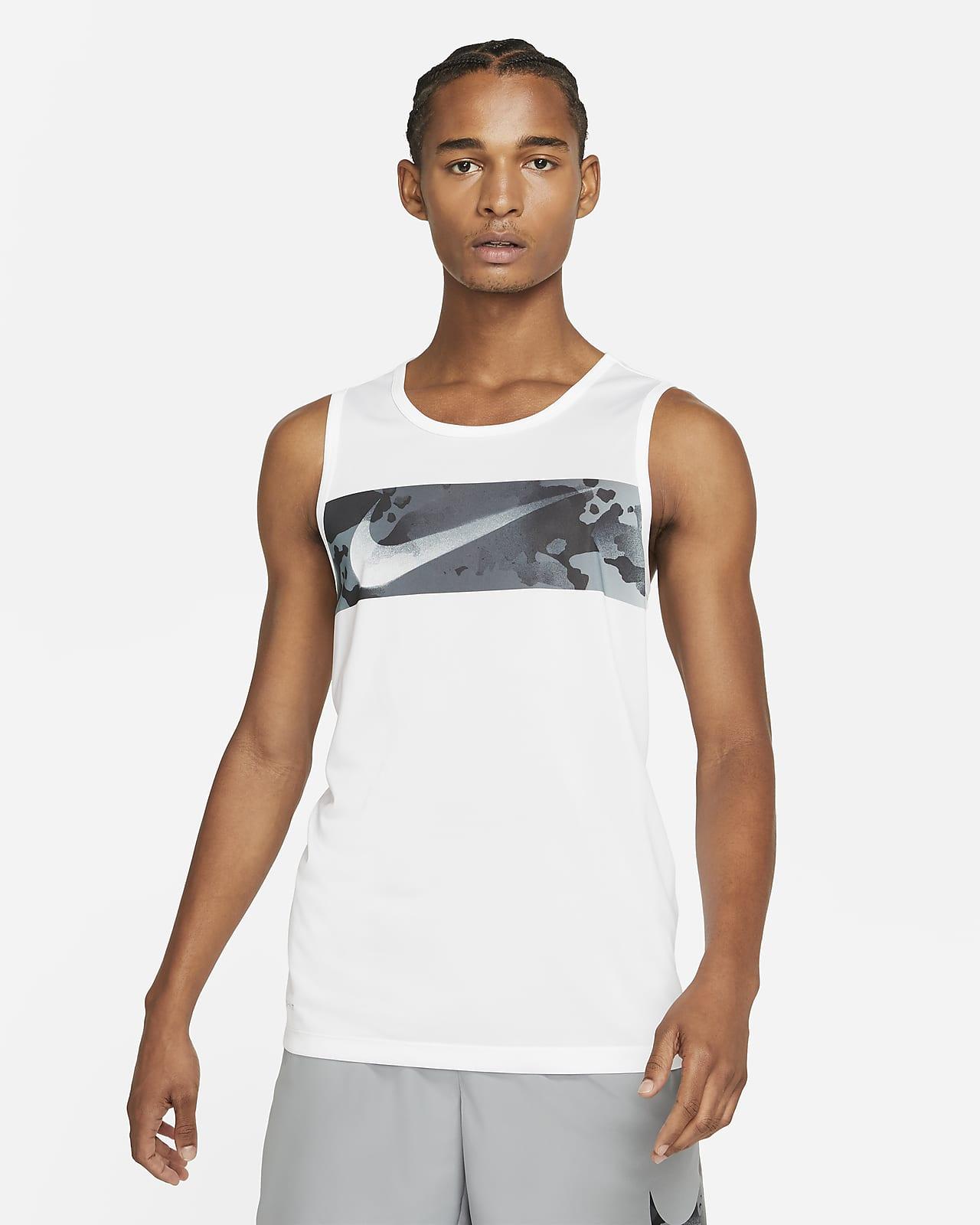 Camiseta de tirantes de entrenamiento con Swoosh camuflado para hombre Nike Legend