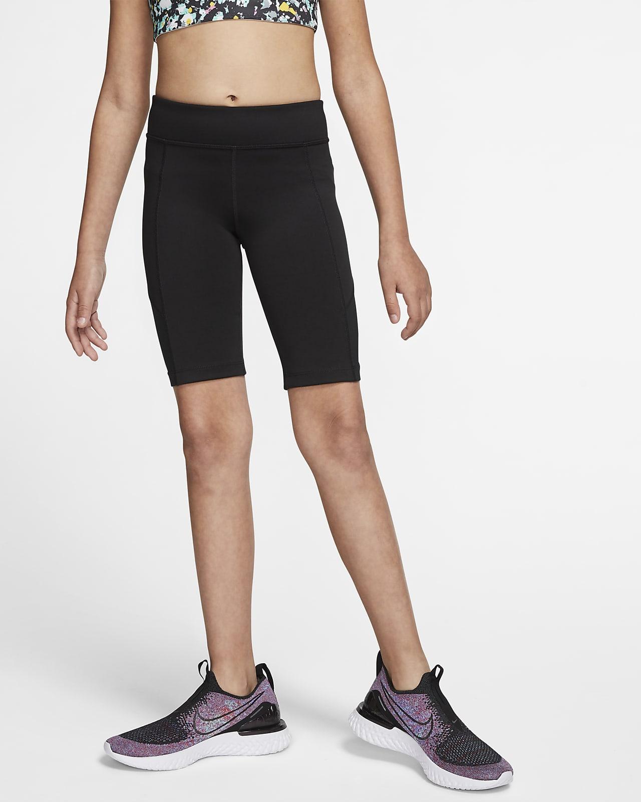 Shorts de entrenamiento para niña talla grande Nike Trophy