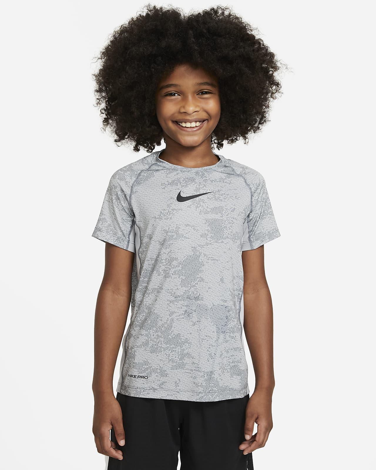 Nike Pro Big Kids' (Boys') Printed Training Top