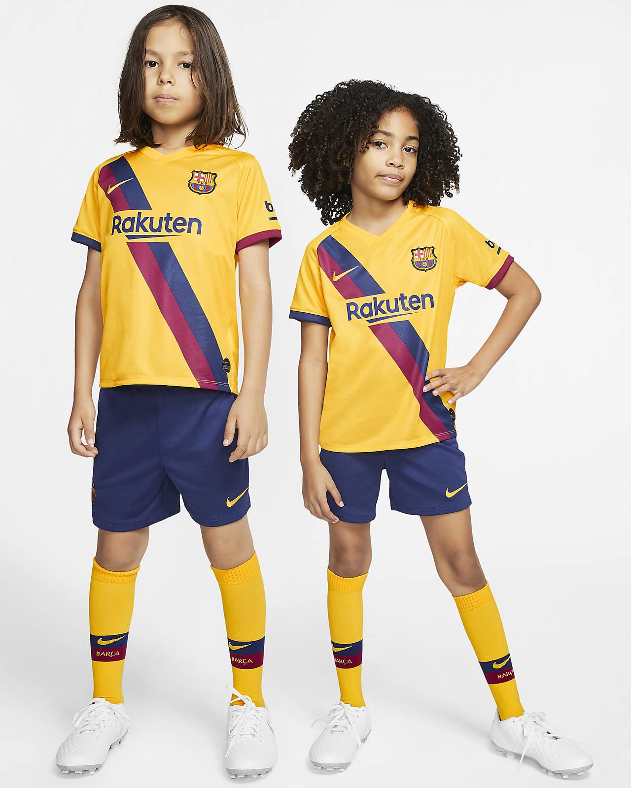 FC Barcelona Away Set für jüngere Kinder