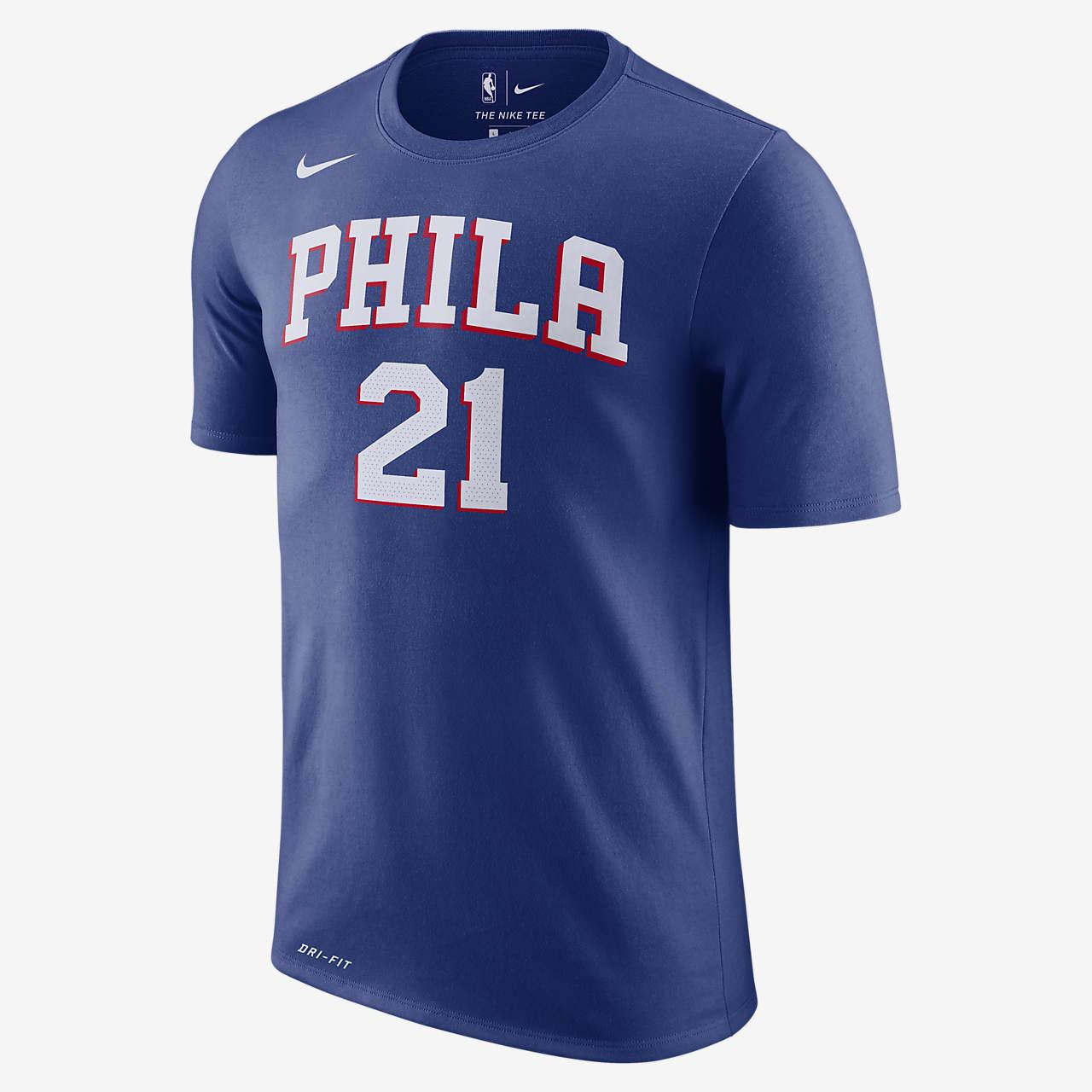 Joel Embiid Philadelphia 76ers Nike Dri-FIT Men's NBA T-Shirt