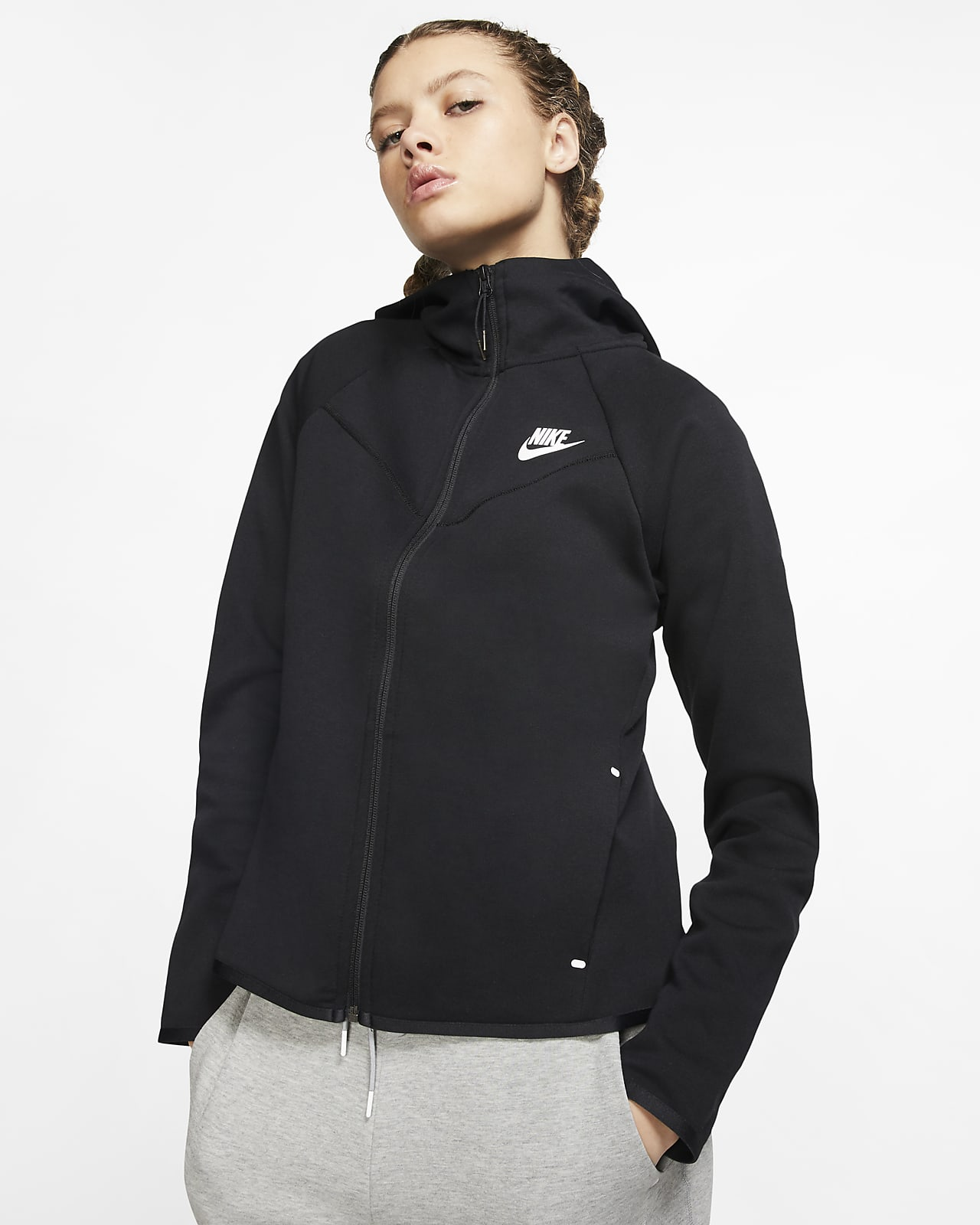 Línea de metal barco Analista  Felpa con cappuccio e zip a tutta lunghezza Nike Sportswear Windrunner Tech  Fleece - Donna. Nike IT